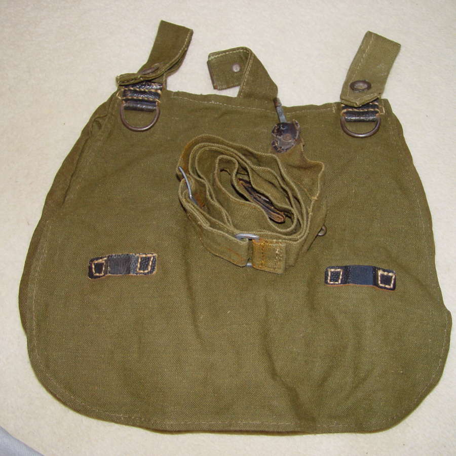 Army bread bag with carrying strap