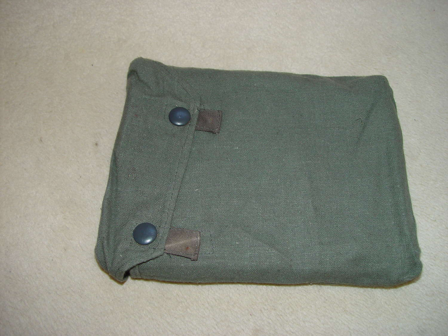 Army gas sheet in bag