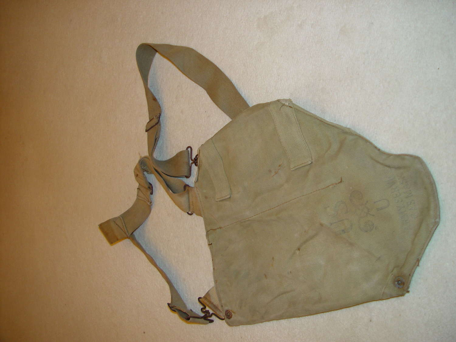 Bag for US army M3 Diaphragm gas mask