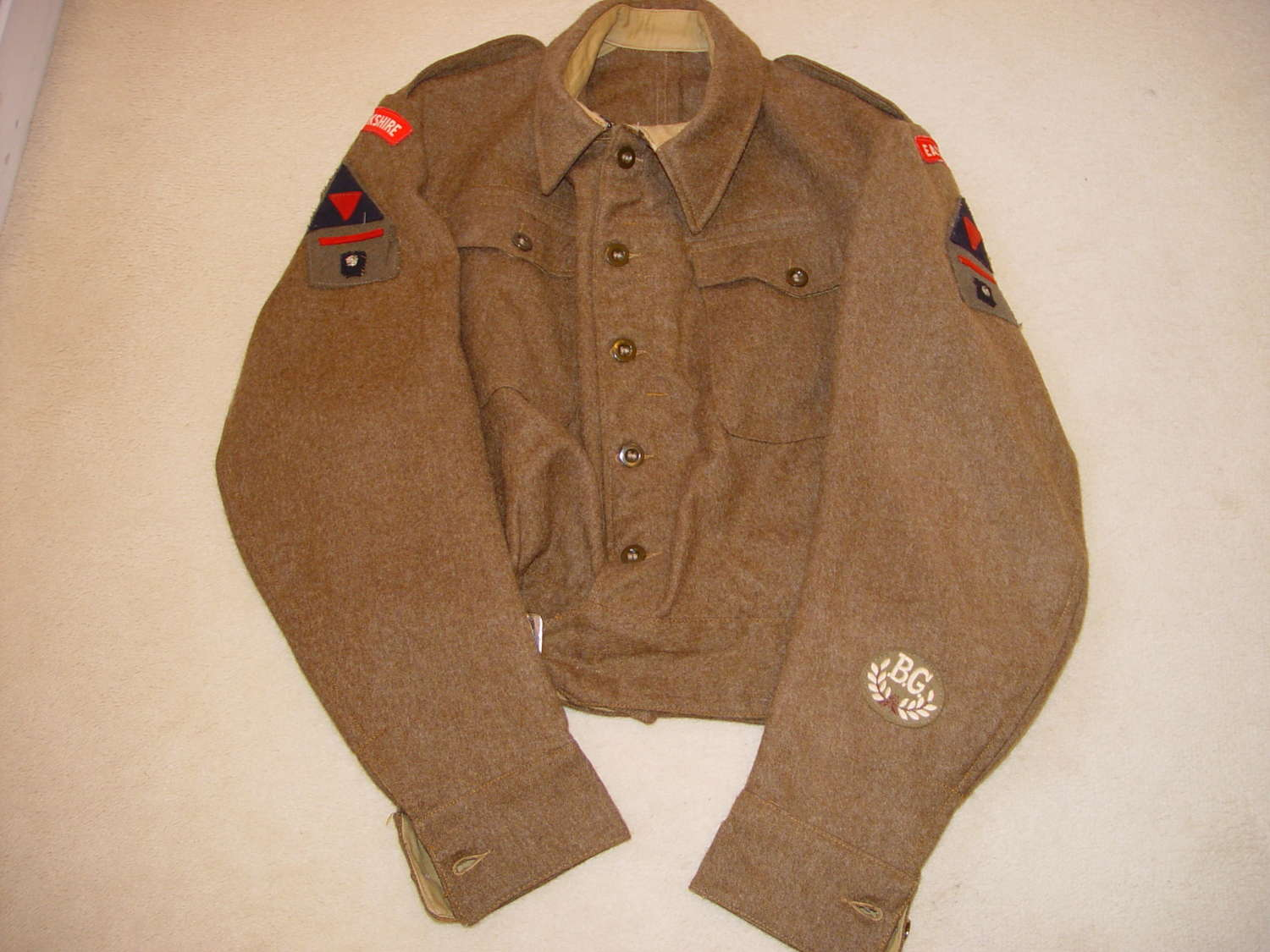 British army 3rd Infantry division Battle Dress blouse