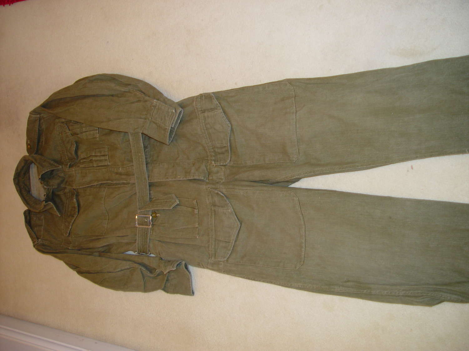 British army denim tank coveralls