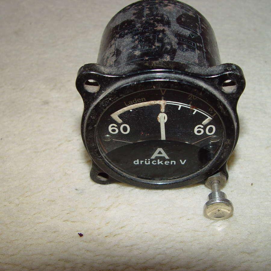 German Luftwaffe electrical charging instrument 60A