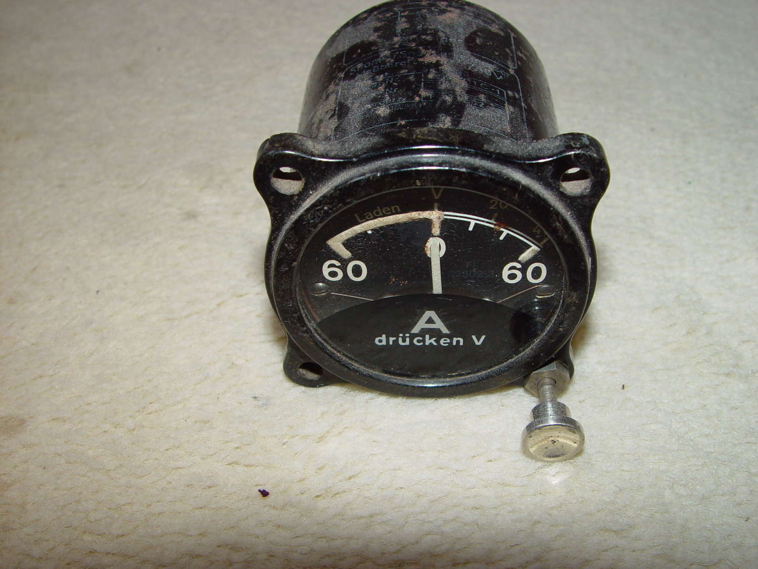 German Luftwaffe electrical charging instrument 60A