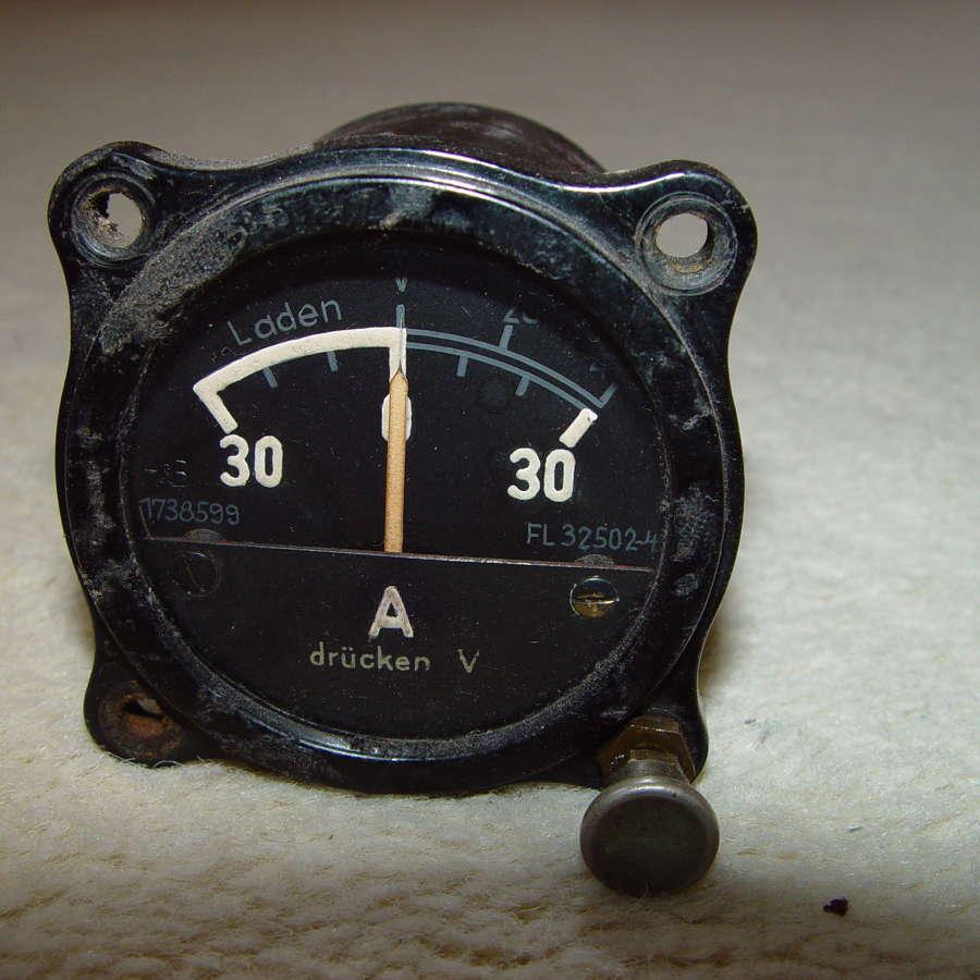 German Luftwaffe electrical charging instrument 30A