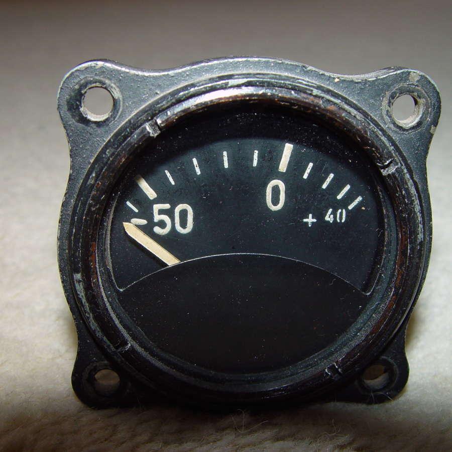 German Luftwaffe external temperature instrument -50/+40