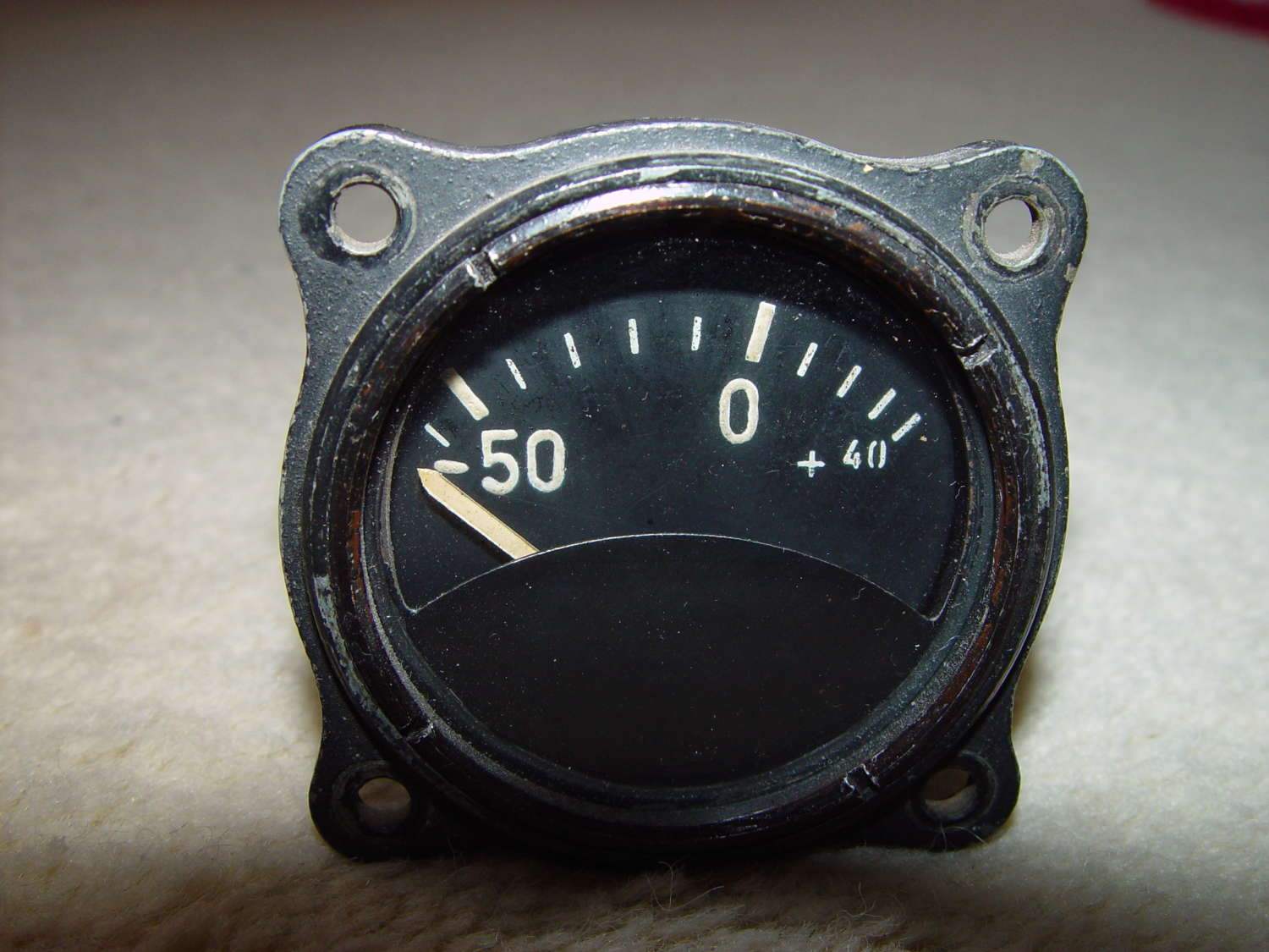 German Luftwaffe external temperature instrument -50/+40