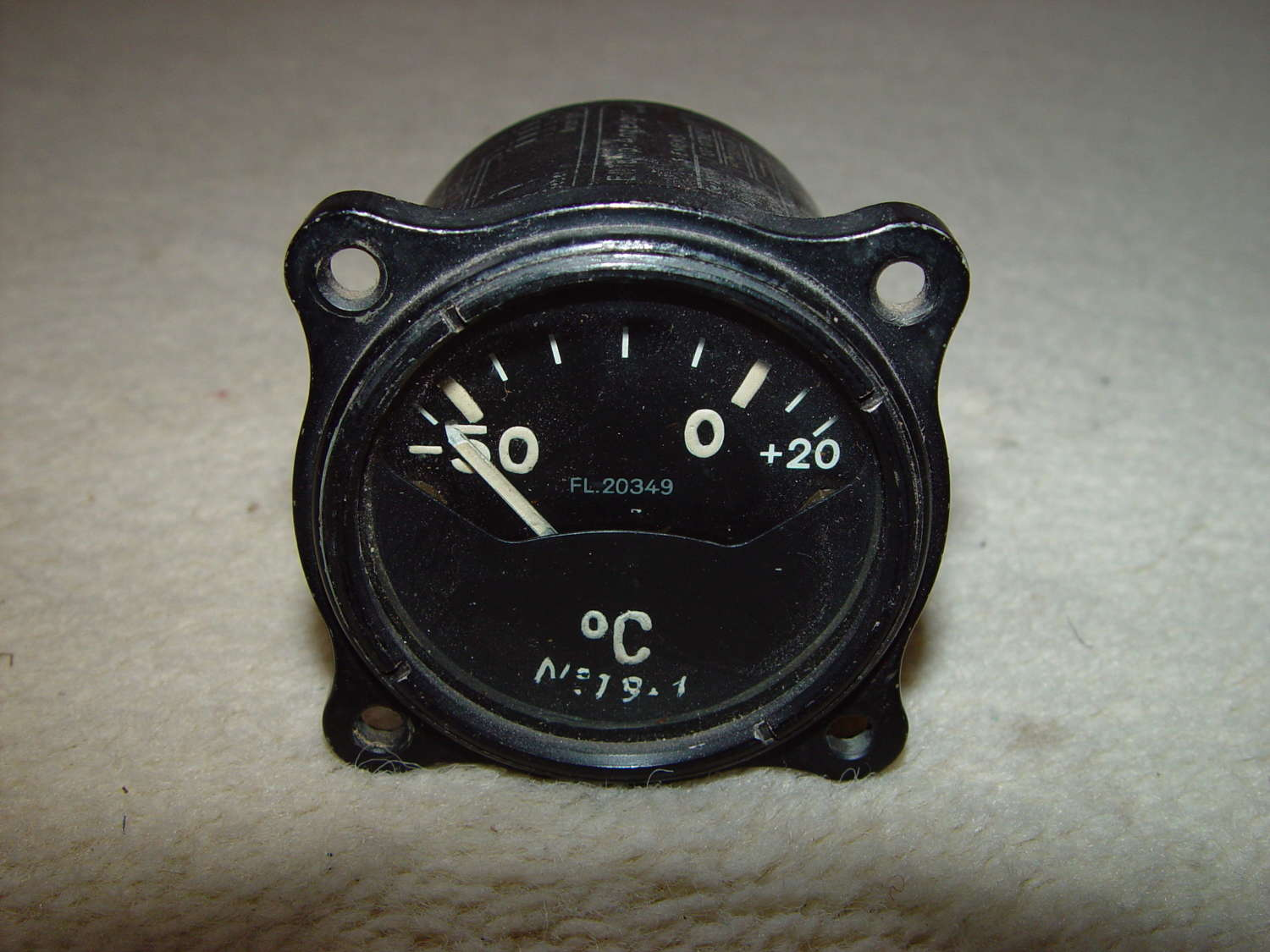 German Luftwaffe external temperature instrument -50/+20