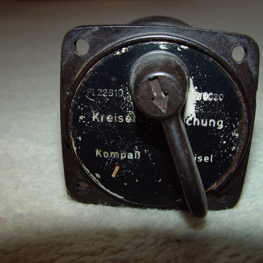 German Luftwaffe Gyrocompass control switch