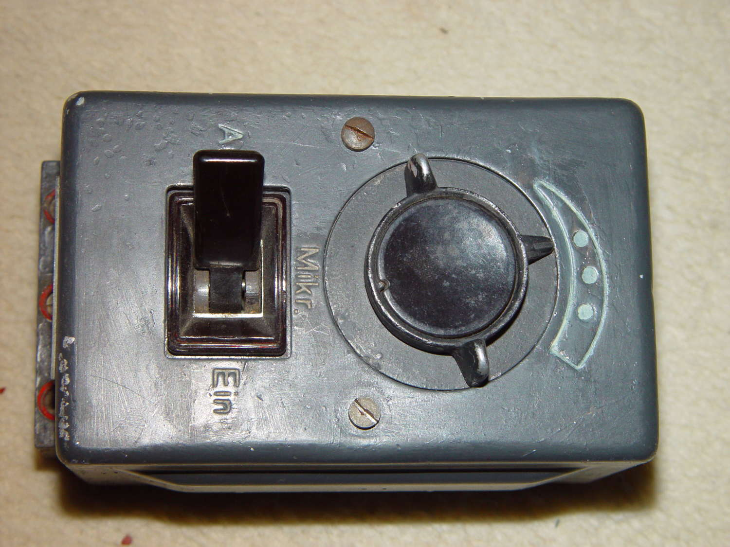 Luftwaffe ADB13 aircraft intercom box