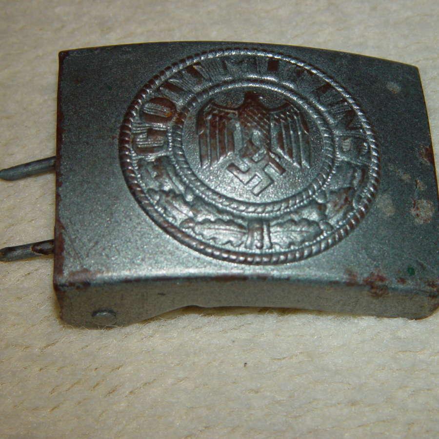 Wehrmacht Heer OR/NCO steel belt buckle