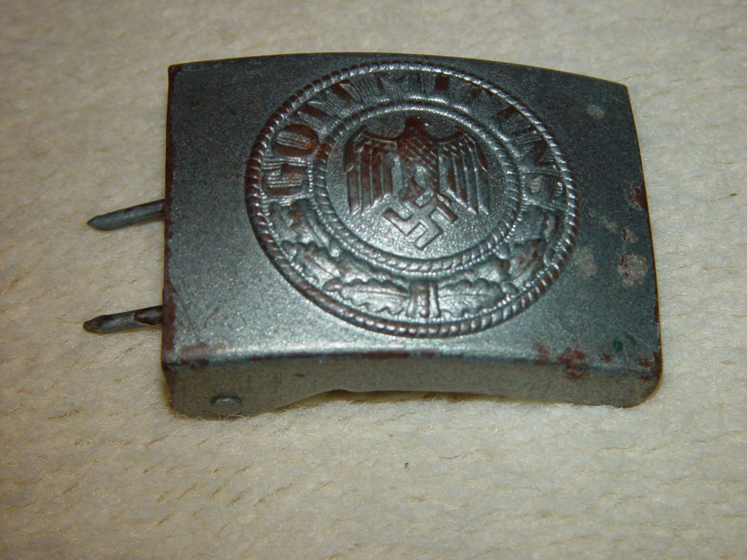 Wehrmacht Heer OR/NCO steel belt buckle