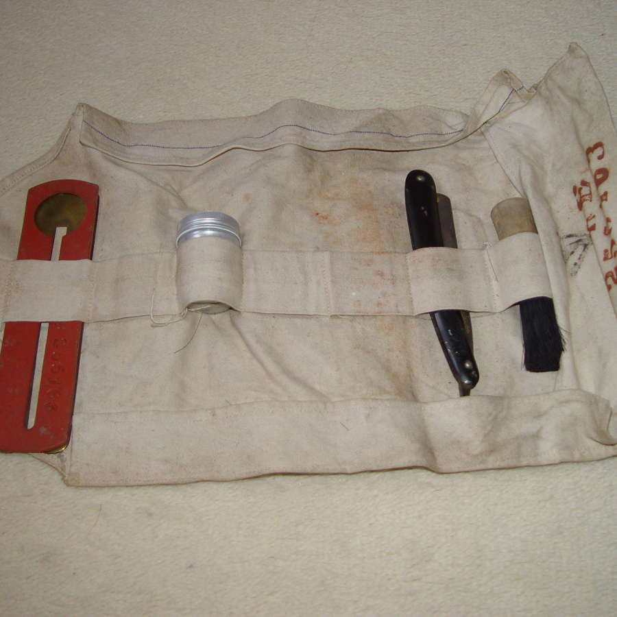 British Army shaving kit attributed