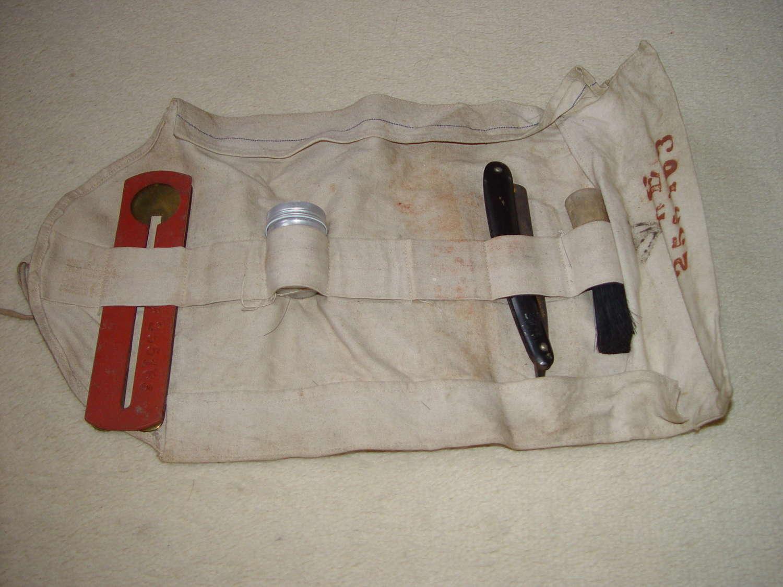 British Army shaving kit attributed