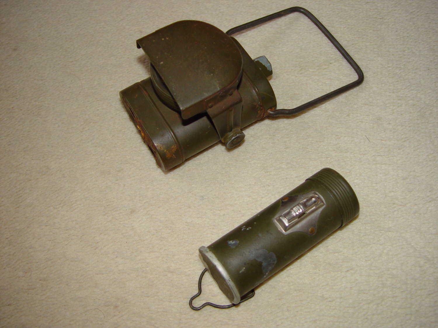 Two British WW2 flashlights