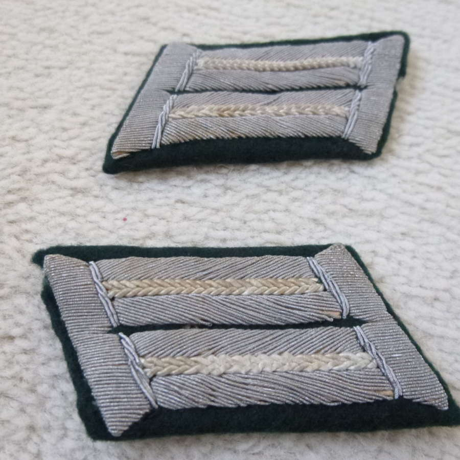 Wehrmacht infantry officers collar tabs