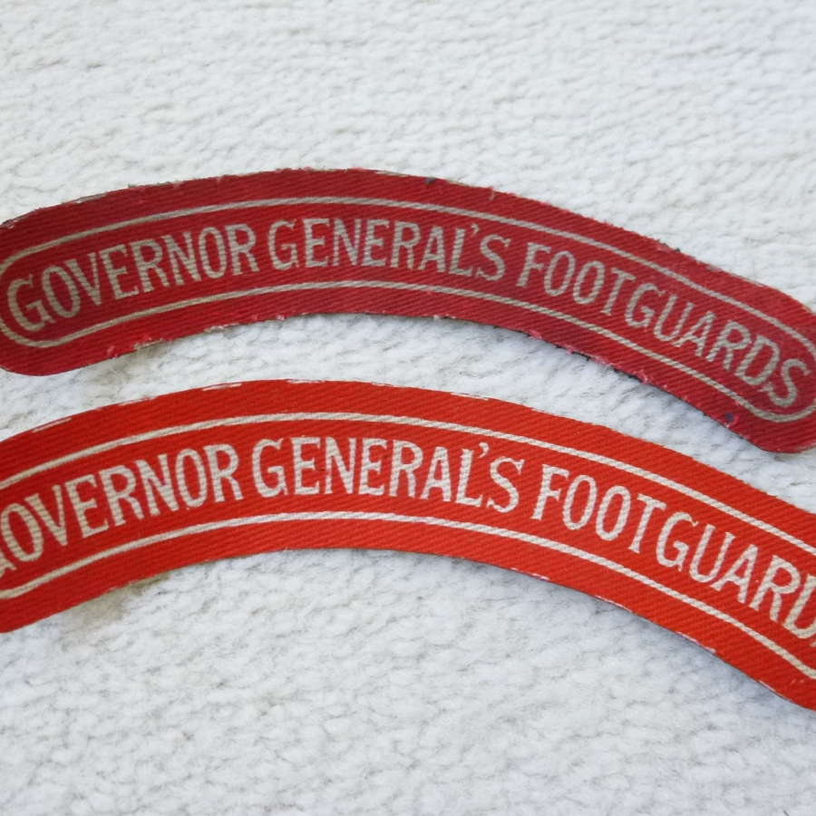 Canadian Governor Generals Footguards shoulder titles