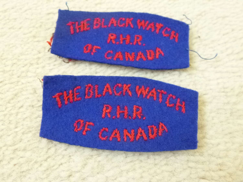 Canadian Black Watch RHR of Canada shoulder titles