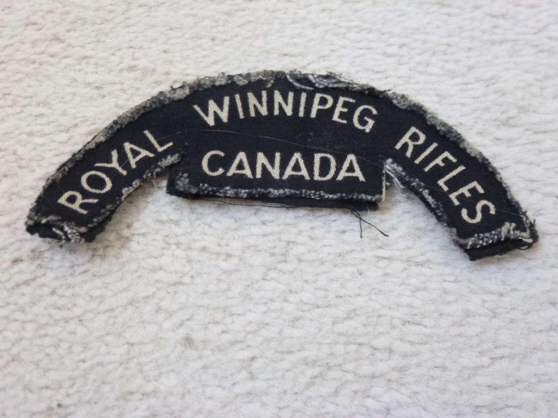 Canadian Royal Winnipeg Rifles shoulder title
