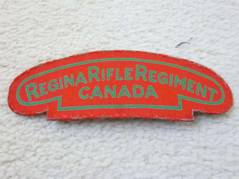 Canadian Regina Rifles Regiment shoulder title