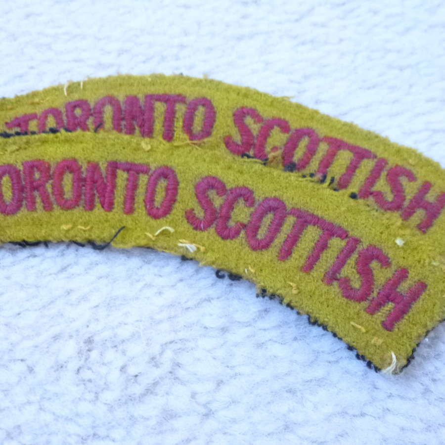 Canadian Toronto Scottish regimental shoulder titles