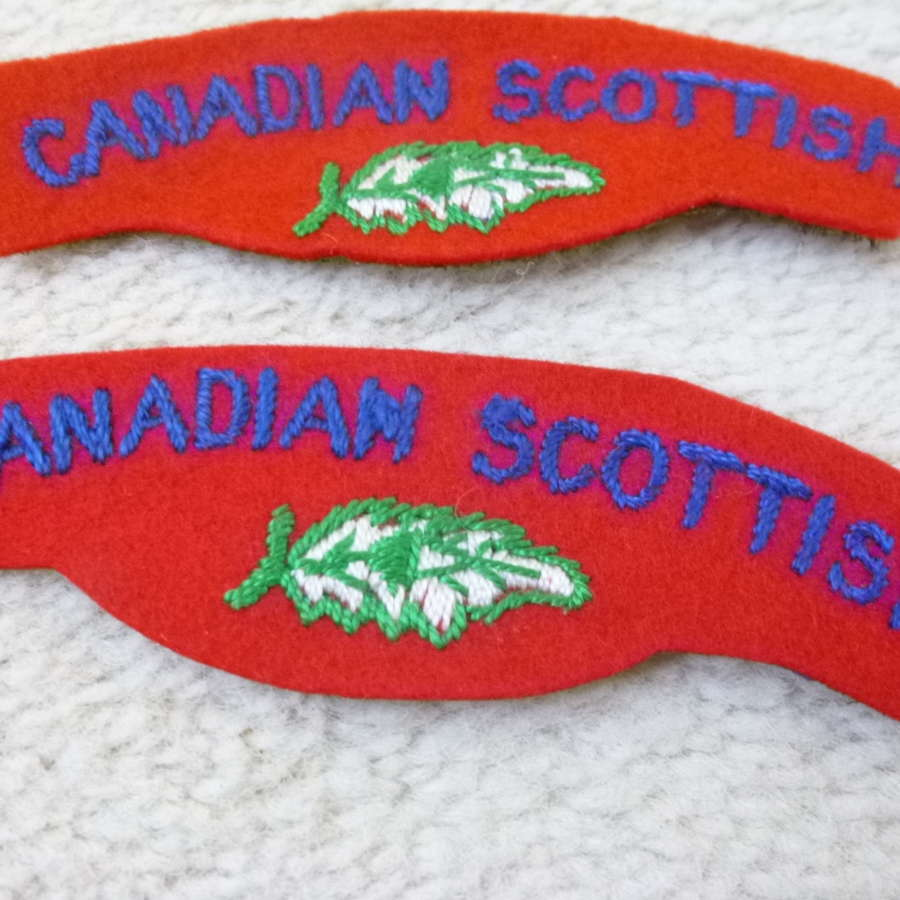 Canadian Scottish regimental shoulder titles