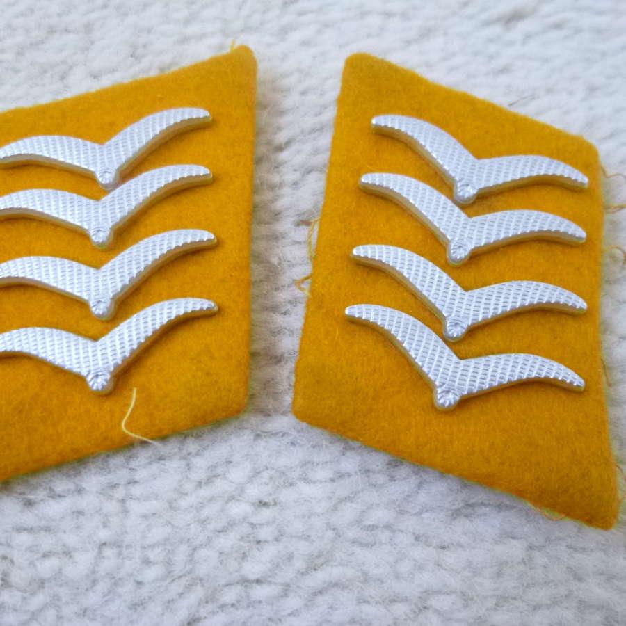 German Luftwaffe Hauptgefreiter collar patches