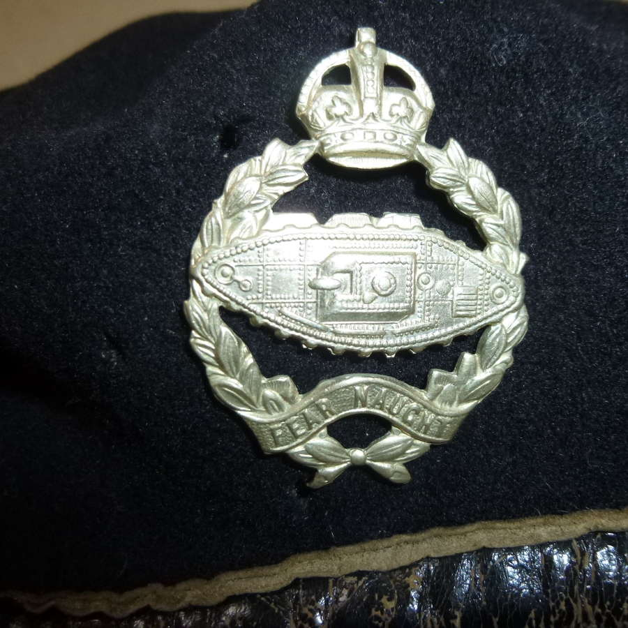 British WW2 black tanker's beret