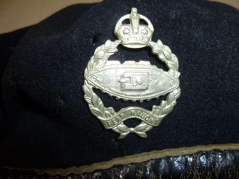 British WW2 black tanker's beret