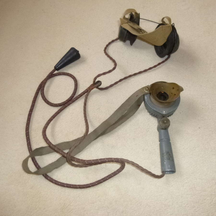 British Army tanker's Tannoy microphone/headset