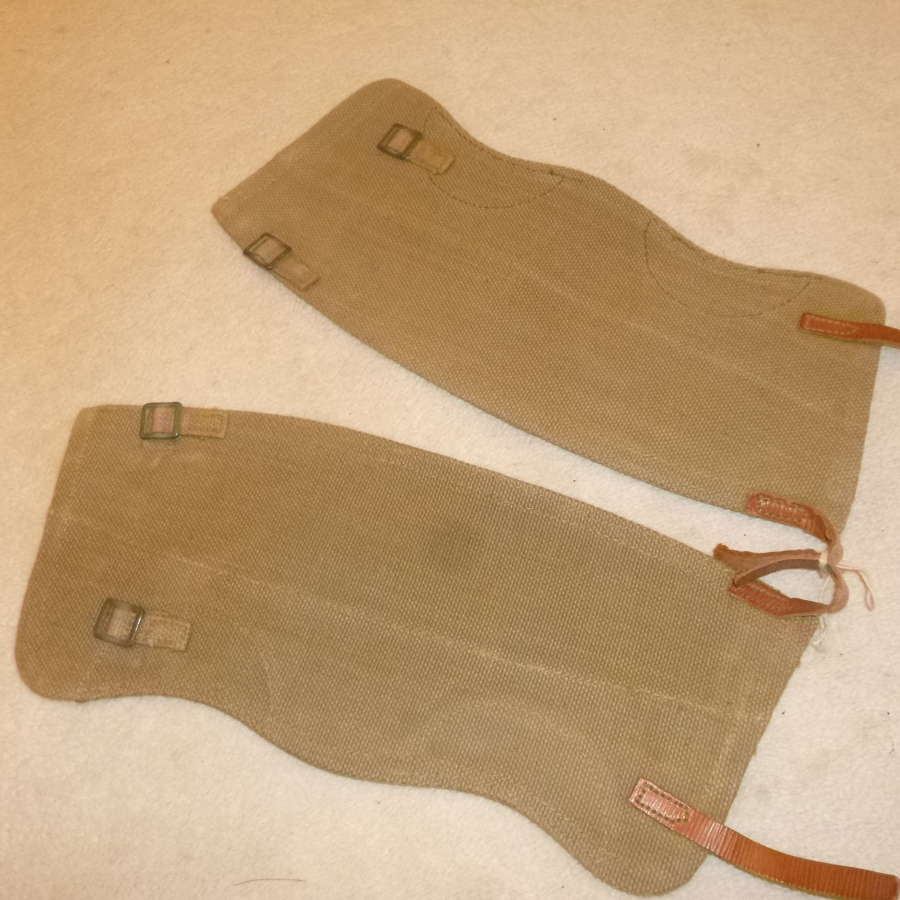 British Army webbing gaiters, size 3