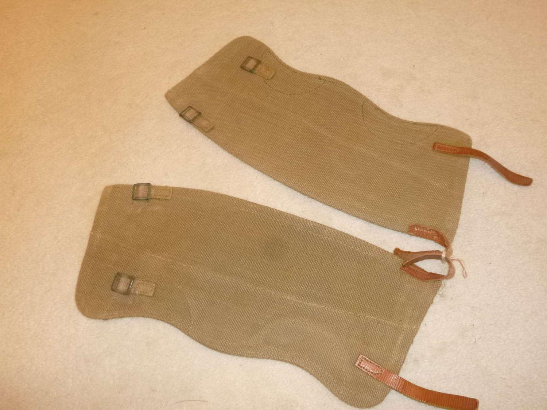 British Army webbing gaiters, size 3