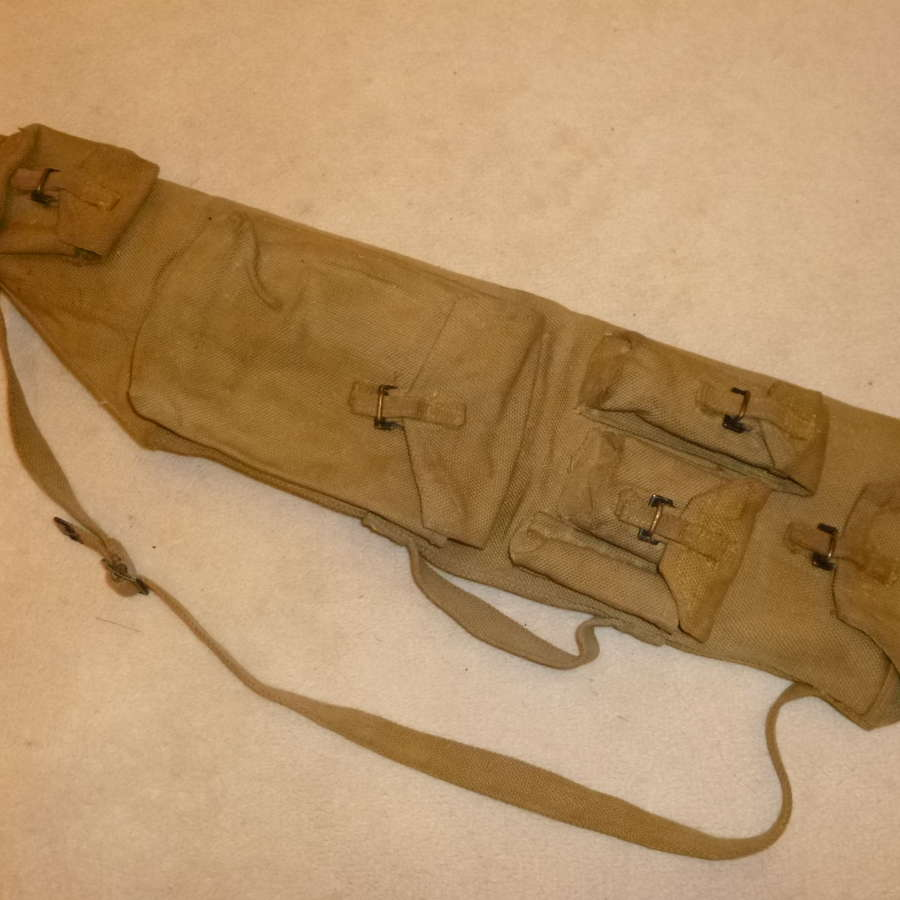 British Army Bren spare barrel case and contents