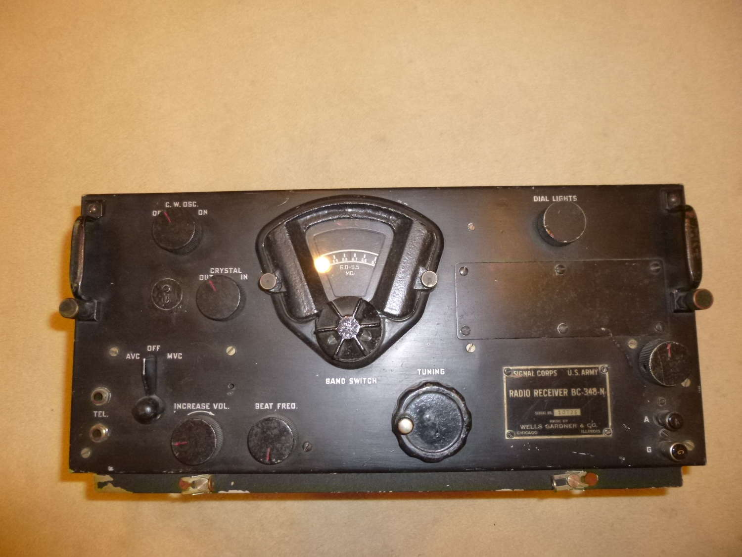 US army air force BC-348N aircraft receiver