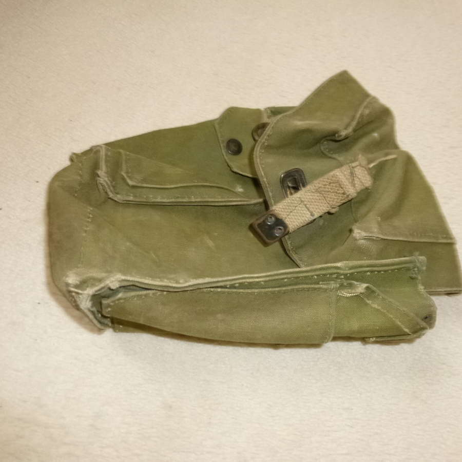 British Army lightweight respirator bag