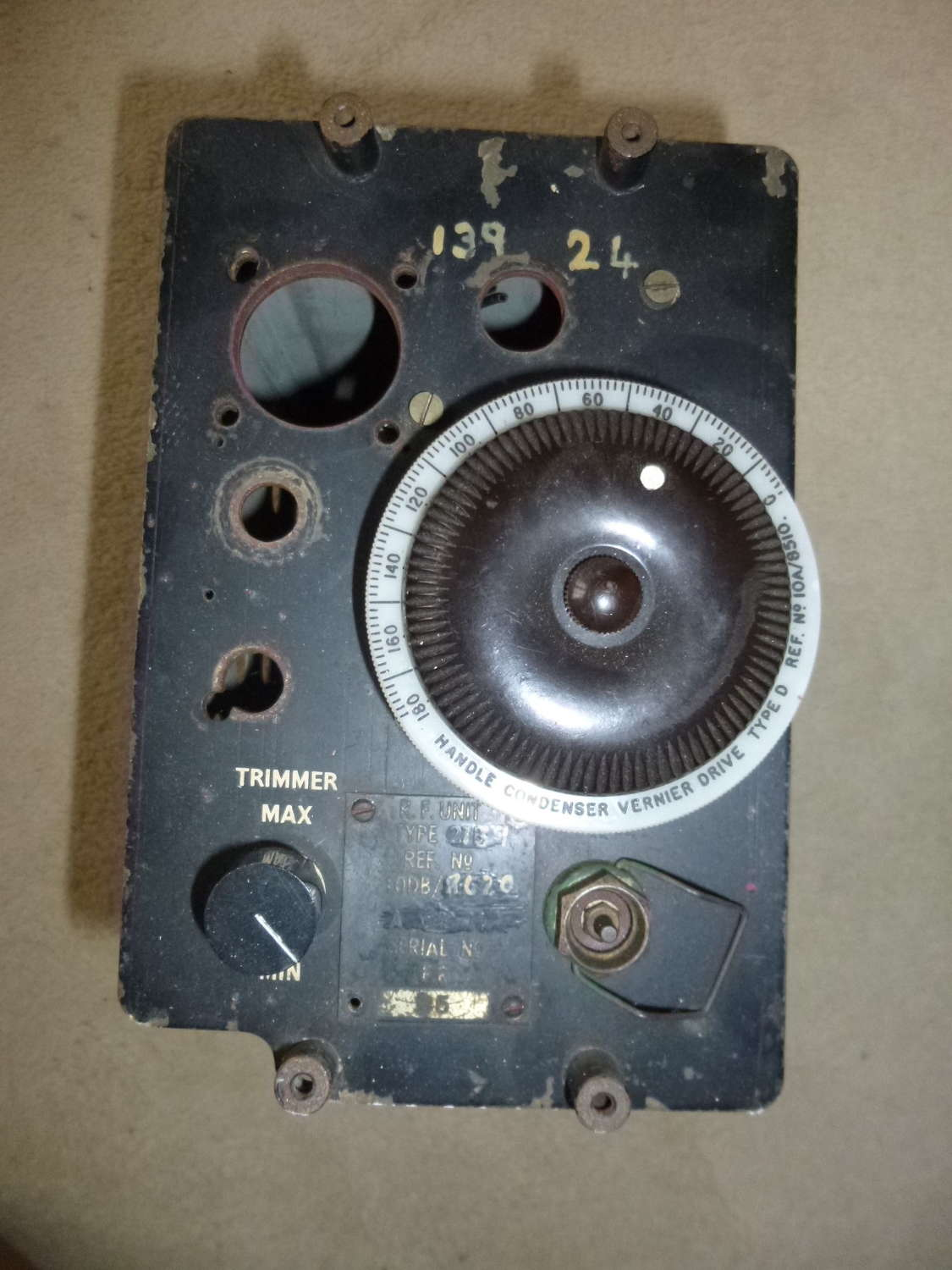 RAF Gee receiver plug in unit