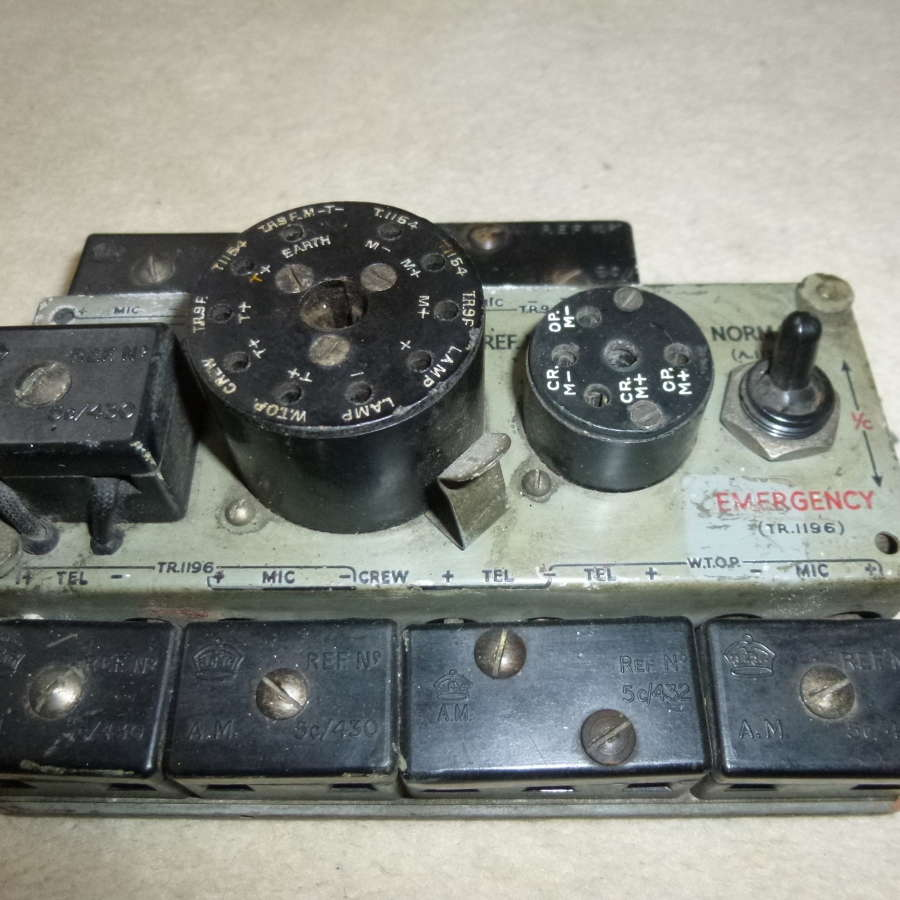 RAF type 192 plug board as used in Lancaster
