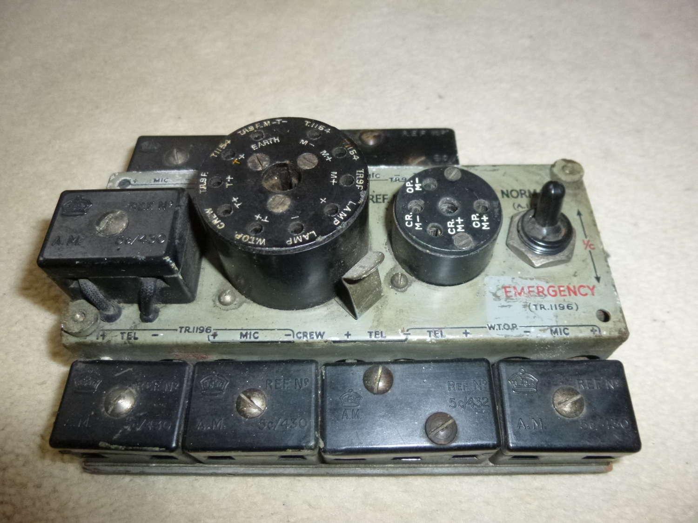 RAF type 192 plug board as used in Lancaster