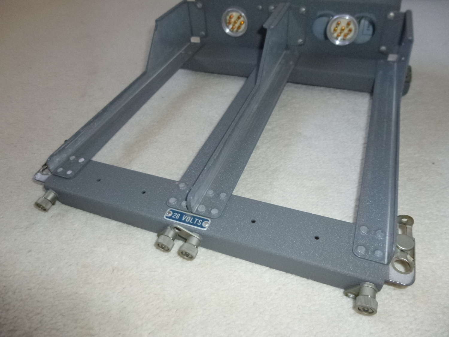 US Air Force mounting frame for two ARC-5 receivers