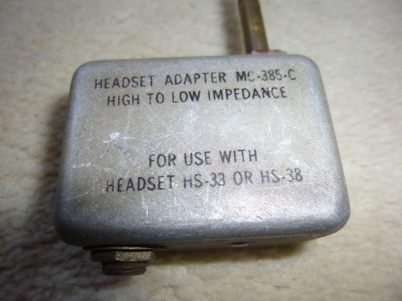 US Air Force MC-385-C headset adapter