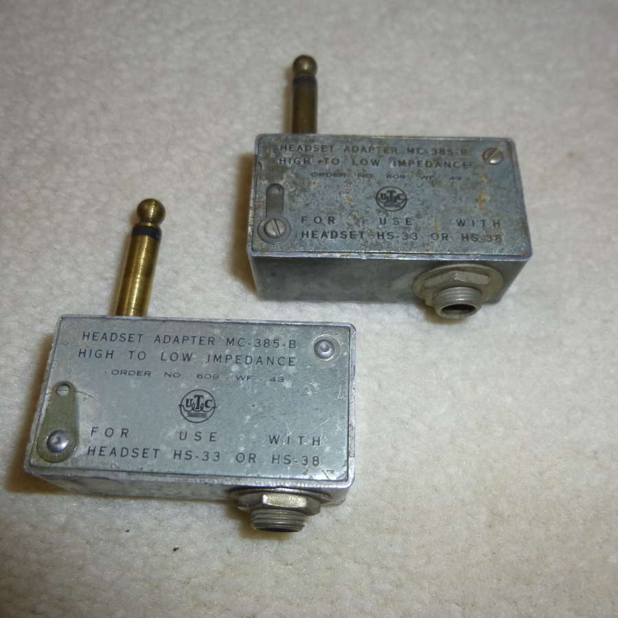 US Air Force MC-385-B headphone adaptor