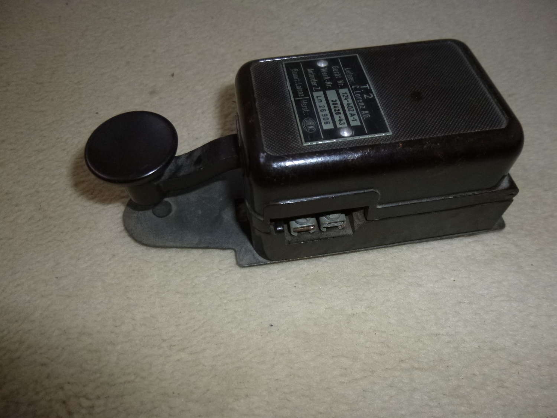 German Luftwaffe T2 morse key for FuG10 radio