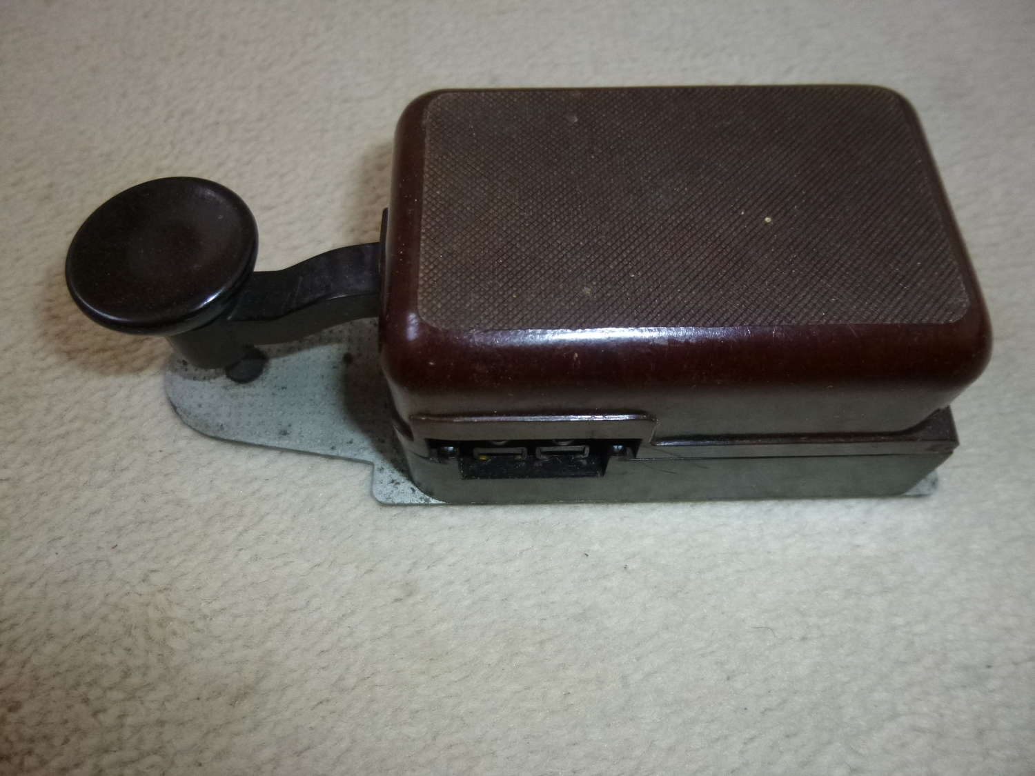 A late war Luftwaffe T2 morse key for FuG10 radio