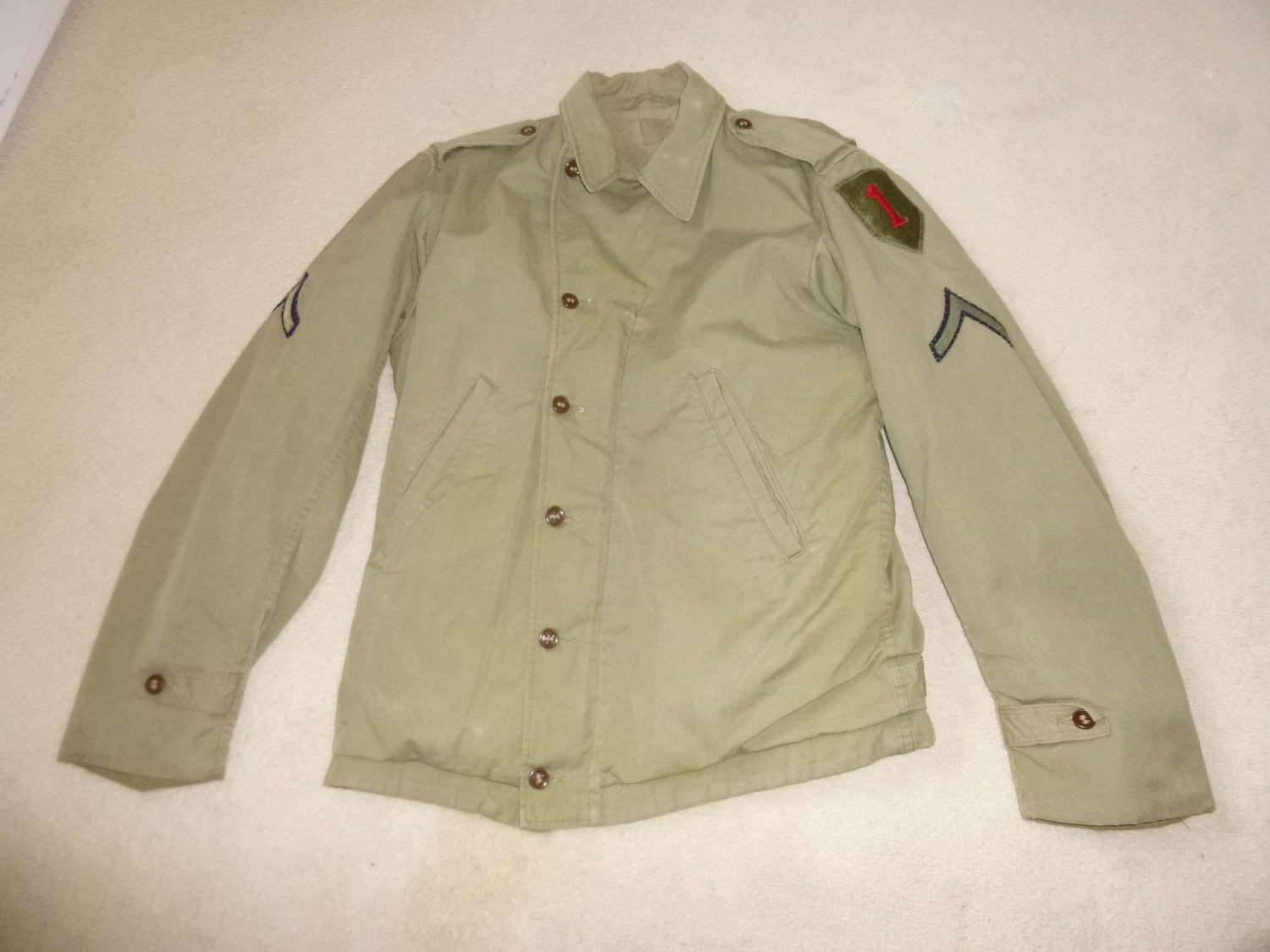 US army M41 parsons jacket, 1st Infantry division