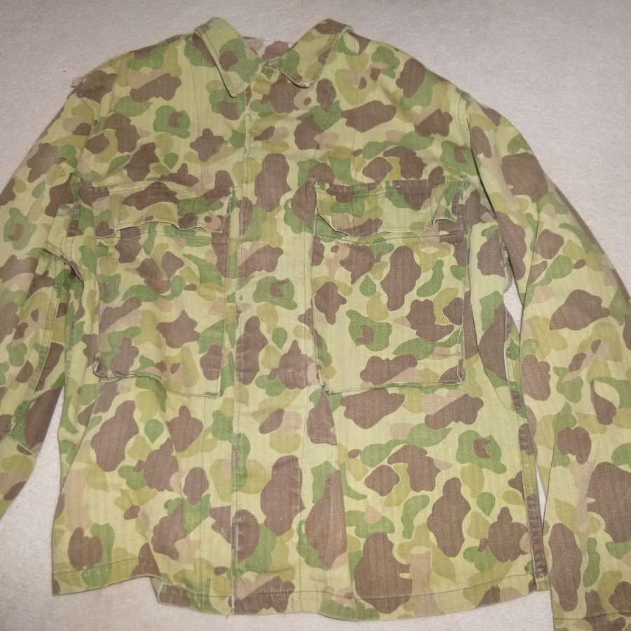US army two piece HBT camouflage suit