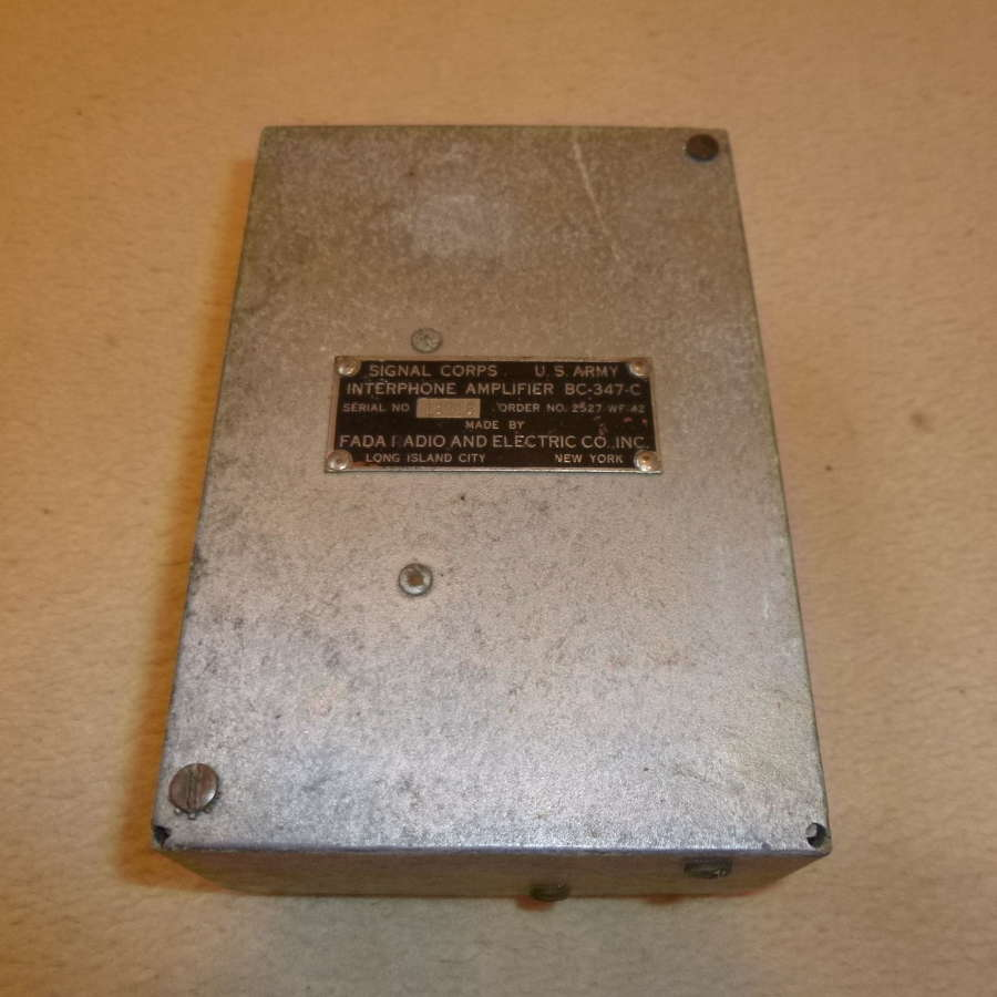 US Air Force BC-347C Intercom amplifier