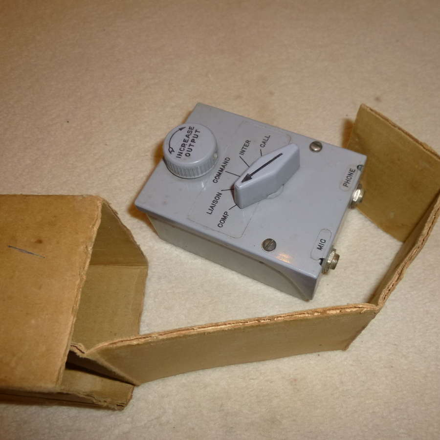 US Air Force boxed BC-366 intercom junction box