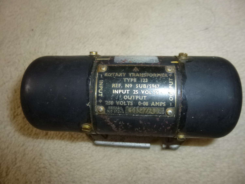 RAF rotary transformer type 123