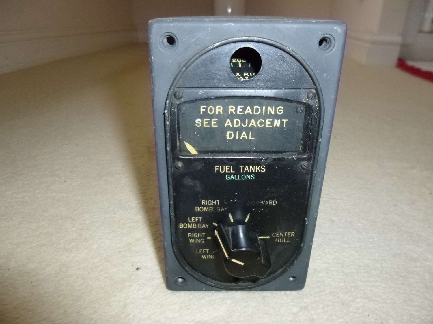 US Air Force fuel indicator instrument