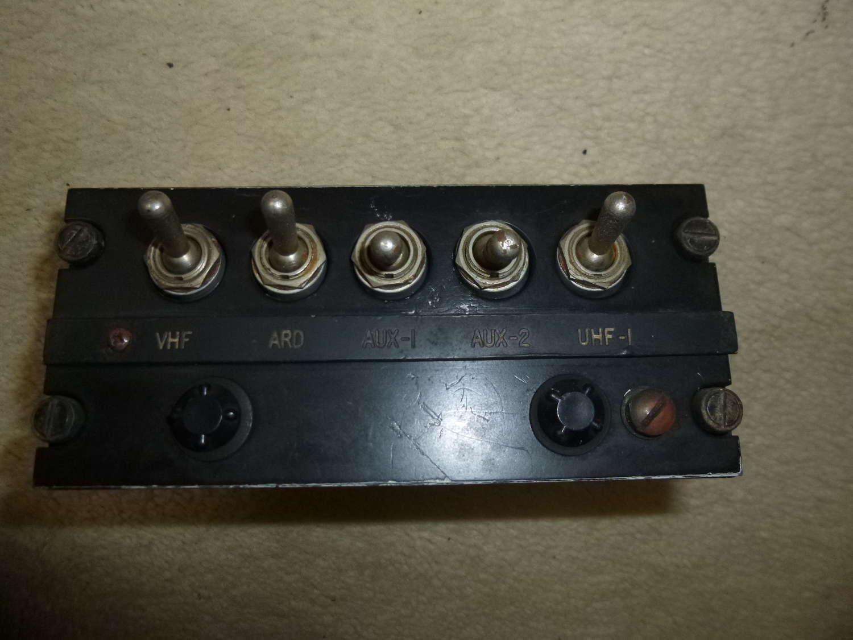 US Air Force C-826/AIC-10 radio/intercom control panel