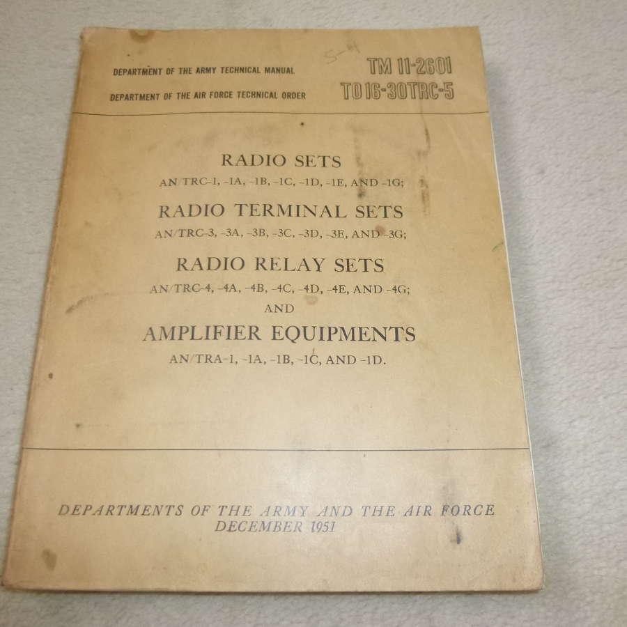US Army TM11-2601 AN/TRC-1-3-4 Manual